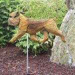 Brussels Griffon Garden Stake Sign Beige