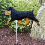 Brussels Griffon Garden Stake Sign Black Tan