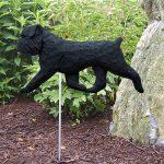 Brussels Griffon Garden Stake Sign Black