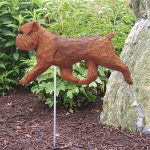 Brussels Griffon Garden Stake Sign Red
