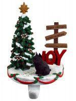 Brussels Griffon Stocking Holder Hanger Black