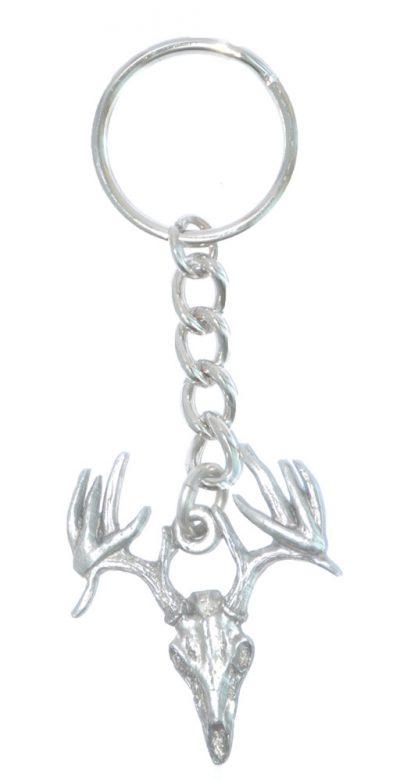 buck-skull-keychain-pewter
