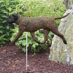 Bull Mastiff Outdoor Garden Stake Sign Brindle