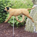 Bull Mastiff Outdoor Garden Sign Stake Fawn