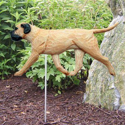 Bull Mastiff Outdoor Garden Sign Stake Fawn