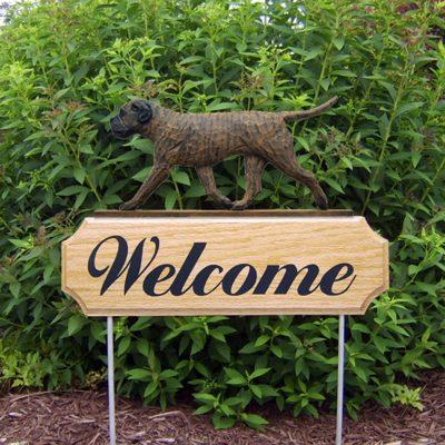 Bull Mastiff Outdoor Welcome Garden Sign Brindle in Color