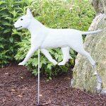 Bull Terrier Garden Stake Sign White