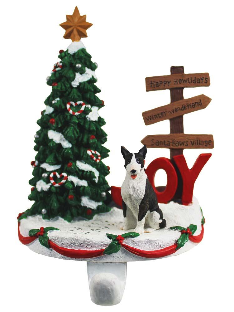Bull Terrier Stocking Holder Hanger Brindle