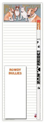 Bull Terrier Dog Notepads To Do List Pad Pencil Gift Set