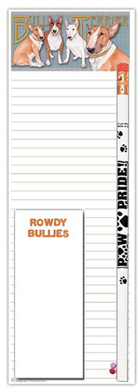 Bull Terrier Dog Notepads To Do List Pad Pencil Gift Set 1