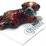 Bulldog Hand Painted Porcelain Miniature Figurine British 1