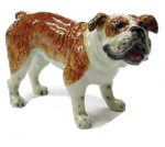 Bulldog Hand Painted Porcelain Figurine