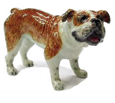 Bulldog Hand Painted Porcelain Figurine 1