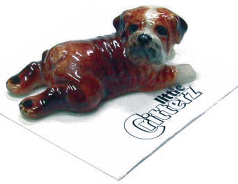 Bulldog Hand Painted Porcelain Miniature Figurine British