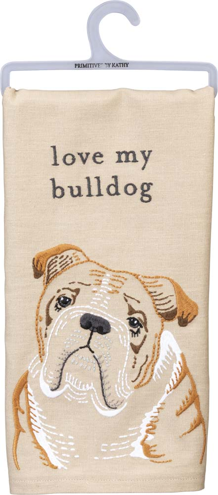 Bulldog Kitchen Dish Towel By Kathy