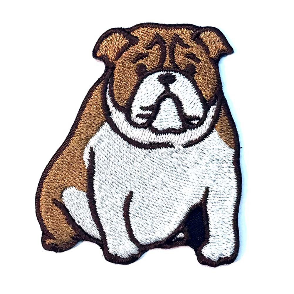 Bulldog Iron on Embroidered Patch