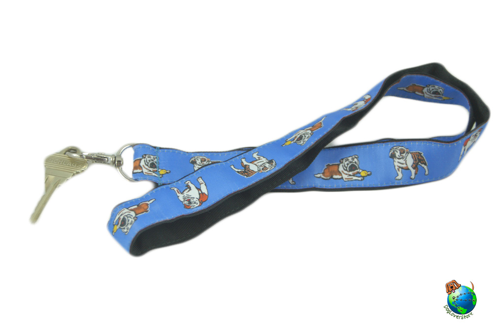 Bulldog Lanyard Key Holder Badge Holder