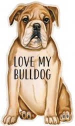 Bulldog Shaped Magnet By Kathy