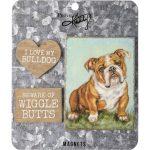 Bulldog Magnet Set