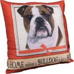 Bulldog Pillow 16x16 Polyester
