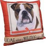 Bulldog Pillow 16×16 Polyester 1
