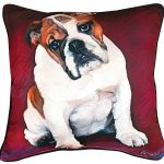 Bulldog Artistic Throw Pillow 18X18″ 1