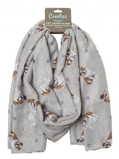 Bulldog Scarf -Lightweight Cotton Polyester