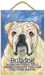 Bulldog Characteristics Indoor Sign