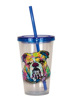 Bulldog Tumbler – Double Walled Acrylic 16 Ounces 1