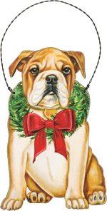 Bulldog Wood Ornament