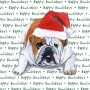 Bulldog Dog Coasters Christmas Themed 1
