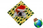 Bulldog Dog Crystal Glass Holiday Christmas Ornament