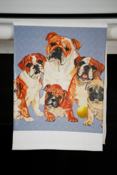 Bulldog Kitchen Hand Towel
