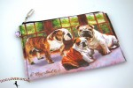 Bulldog Dog Bag Zippered Pouch Travel Makeup Coin Purse