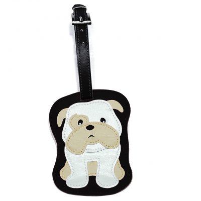 Bulldog Dog Luggage Tag Briefcase Gym Backpack Travel ID