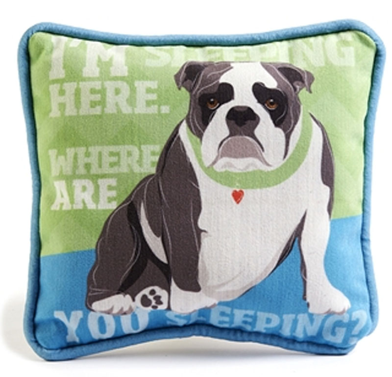 Decorative Pillow With Dog : Bulldog Decorative Dog Pillow 9x8