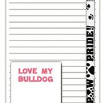 Bulldog Dog Notepads To Do List Pad Pencil Gift Set 1