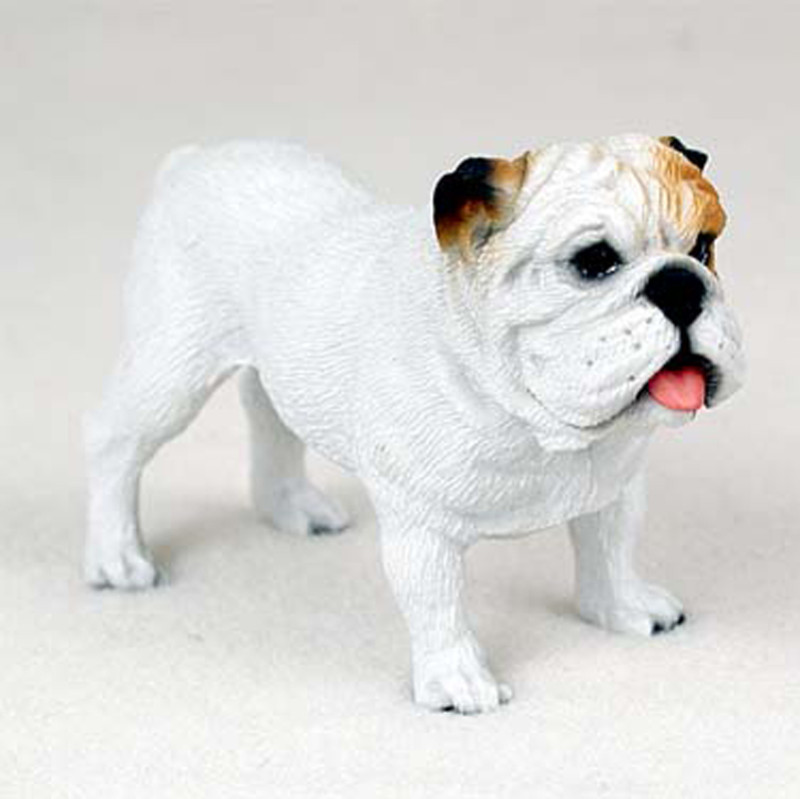 White Bulldog Figurine