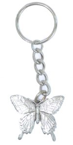 Butterfly Keychain - Pewter