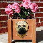 Cairn Terrier Planter Flower Pot Wheaten 1