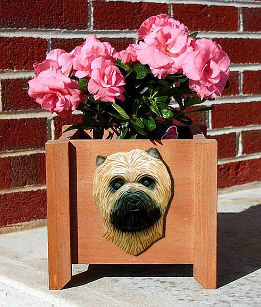 Cairn Terrier Planter Flower Pot Wheaten