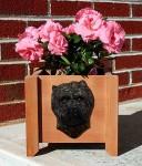 Cairn Terrier Planter Flower Pot Black Brindle