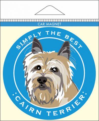 Cairn Terrier Car Magnet 4×4″ 1