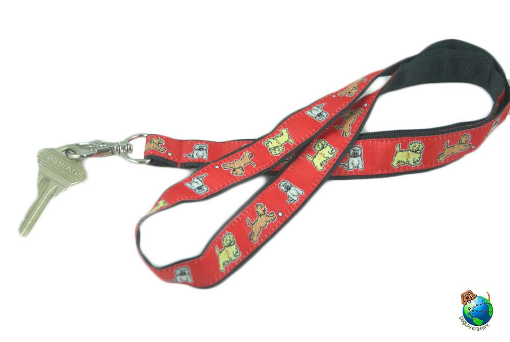 Cairn Terrier Lanyard Key Holder Badge Holder