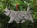 Cairn Terrier Ornament Light Gray