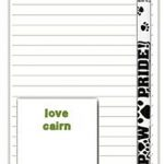 Cairn Terrier Dog Notepads To Do List Pad Pencil Gift Set 1