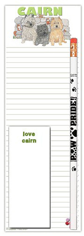 Cairn Terrier Dog Notepads To Do List Pad Pencil Gift Set