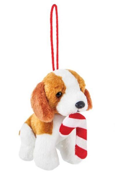 Beagle Candy Cane Ornament