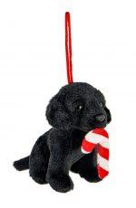 Black Lab Candy Cane Ornament