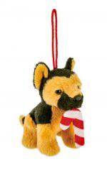 German Shepherd Candy Cane Ornament
